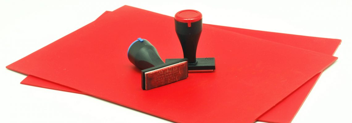 Red Rubber Stamp