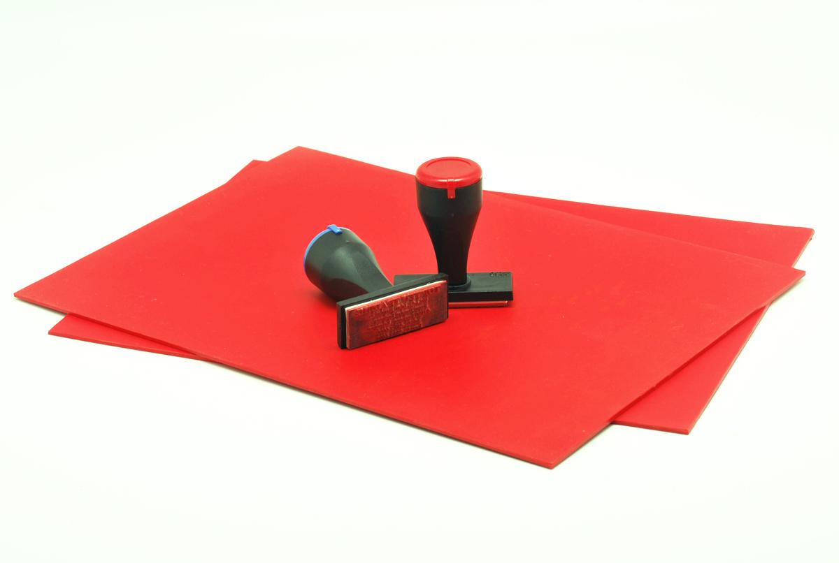 Red Rubber Stamp Laserlink Enterprise